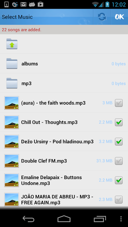 MusicDropNPlay for Dropbox - screenshot