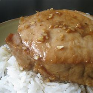 Pork Chops with Tangy Honey Sauce.