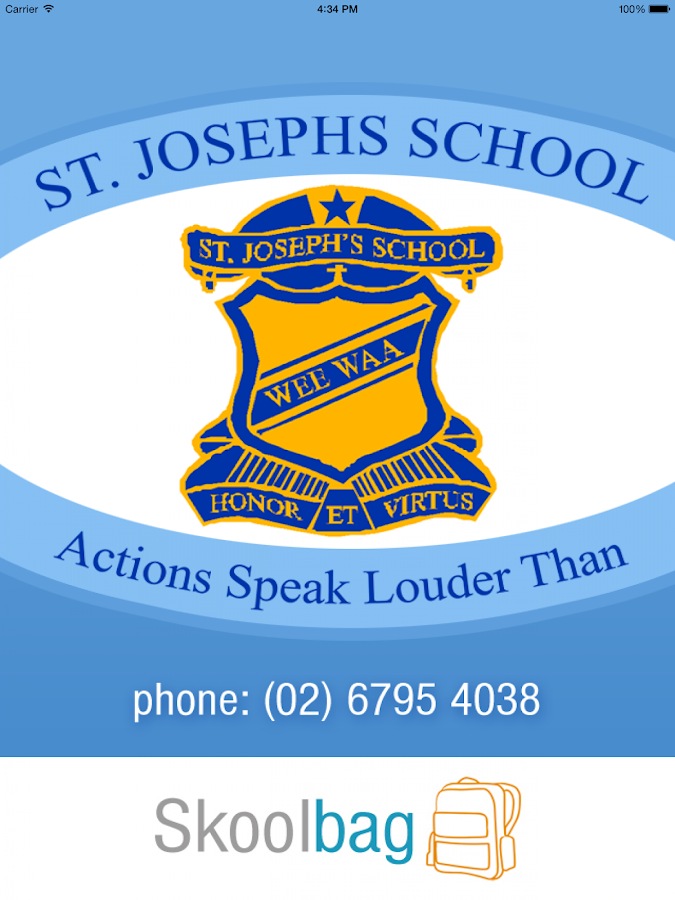 St Joseph's Wee Waa - Skoolbag - screenshot