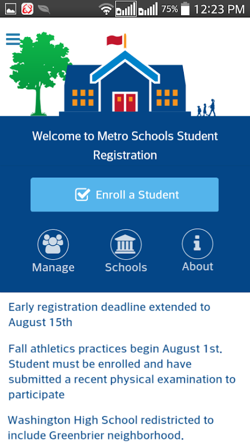 Student Registration- screenshot