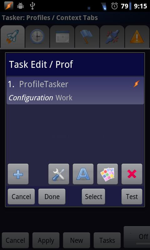 Profile 4 Tasker +Widget- screenshot