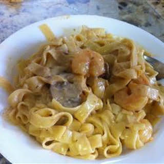 Angel Shrimp Pasta.