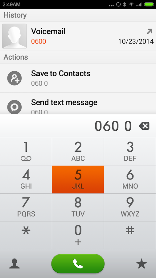 PP – Dialer and Contacts- screenshot