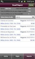 Screenshot of Diario de Millaje