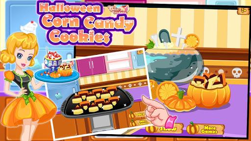 Halloween Corn Candy Cookies