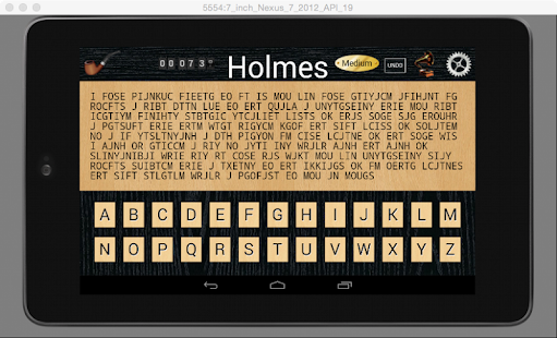 Holmes Cryptic Cipher Puzzle F- screenshot thumbnail
