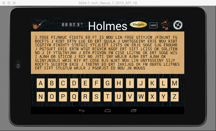 Holmes Cryptic Cipher Puzzle F- screenshot