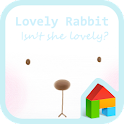 Lovely rabbit dodol theme icon