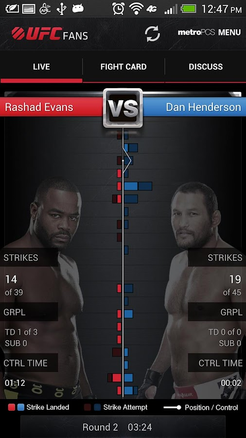 UFC Fans powered by MetroPCS - screenshot
