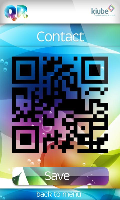 QR code reader and generator- screenshot