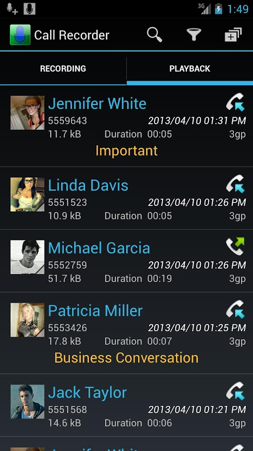 Digital Call Recorder - screenshot