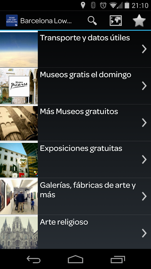Guia de Barcelona Low Cost- screenshot