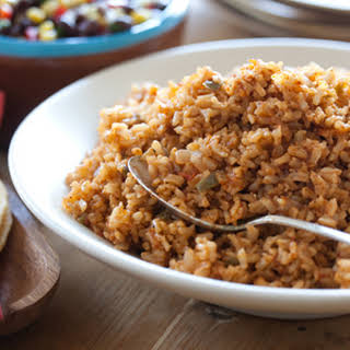 Baked Mexican Brown Rice.
