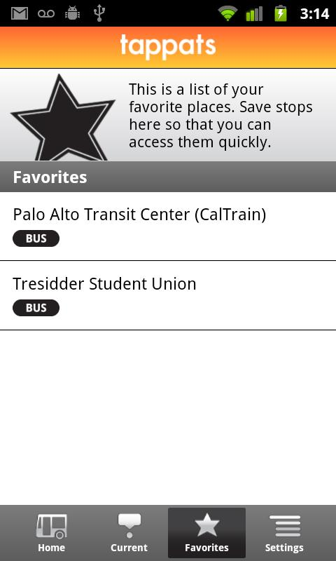 Tappats NFC for Stanford Bus - screenshot