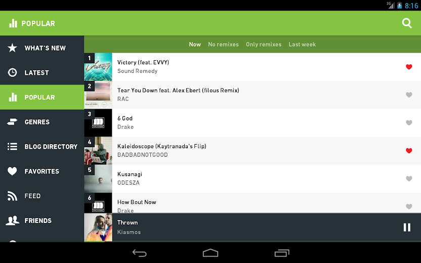 Screenshot 8 for Hype Machine's Android app'
