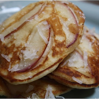 Nectarine Coconut Pancakes