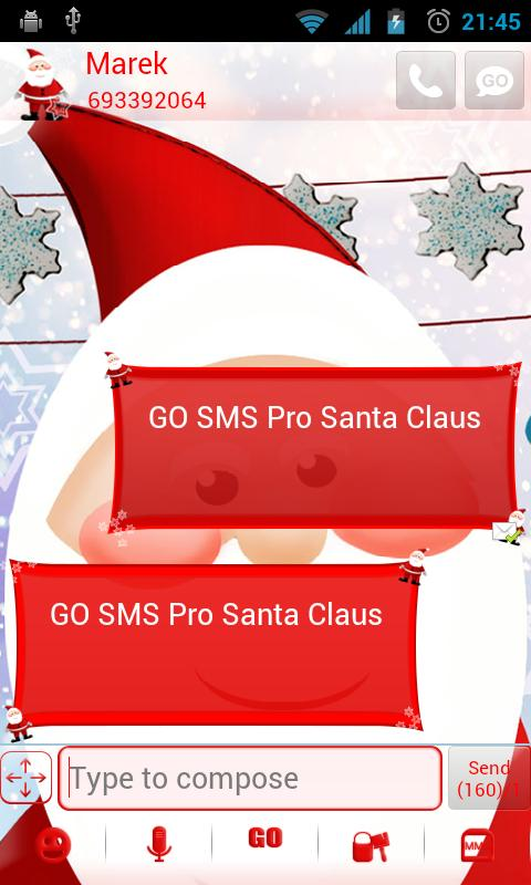 GO SMS Pro Santa Claus - screenshot