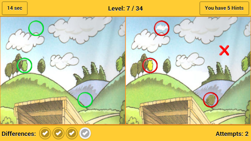 【免費街機App】Spot the Differences Cartoon-APP點子