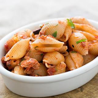 Tuna Tomato Pasta with Olives