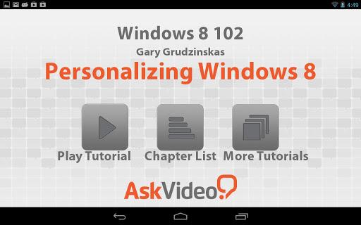 Windows 8 102 - Personalizing