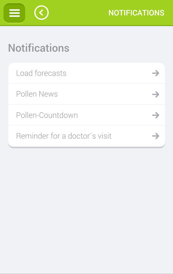 Pollen- screenshot
