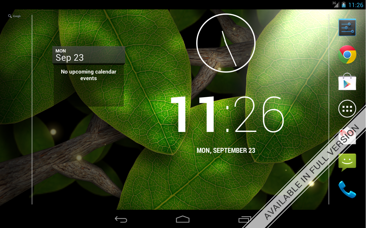 Tap Leaves Free Live Wallpaper- screenshot
