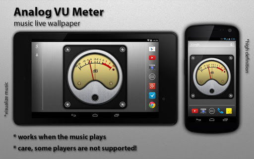 VU Meter Live Wallpaper Free|玩個人化App免費|玩APPs