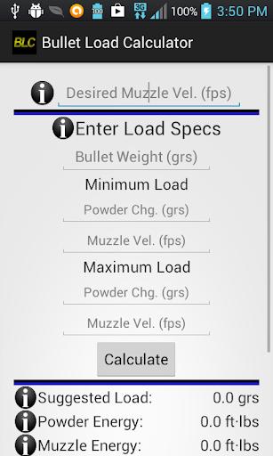 Bullet Load Calculator