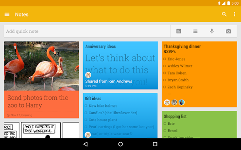 Google Keep – Notes et listes - screenshot thumbnail