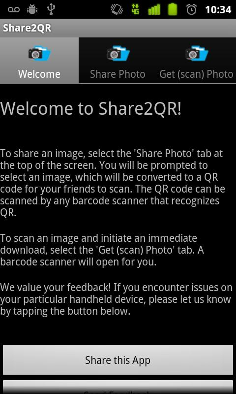 Share Photos Safely - Share2QR - screenshot