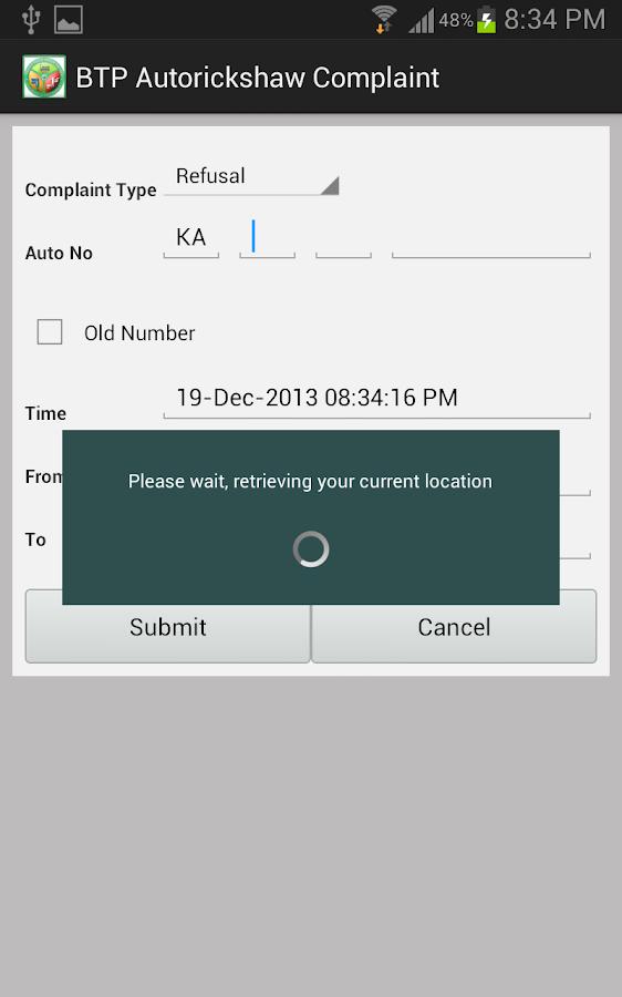 BTP - Bangalore Traffic Info - screenshot