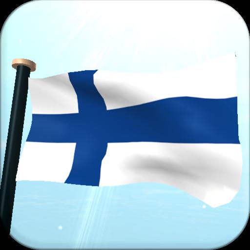 Finland Flag 3D Free Wallpaper