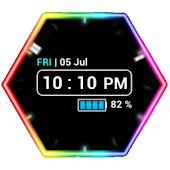 Neon Clock Widget Full