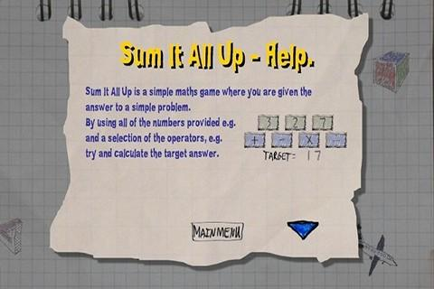 Sum It All Up- screenshot