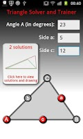 Screenshot of Triangle Solver and Coach