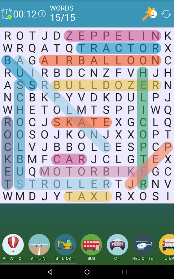 Word Search: Pics!- screenshot