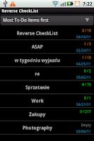 Screenshot of Reverse CheckList