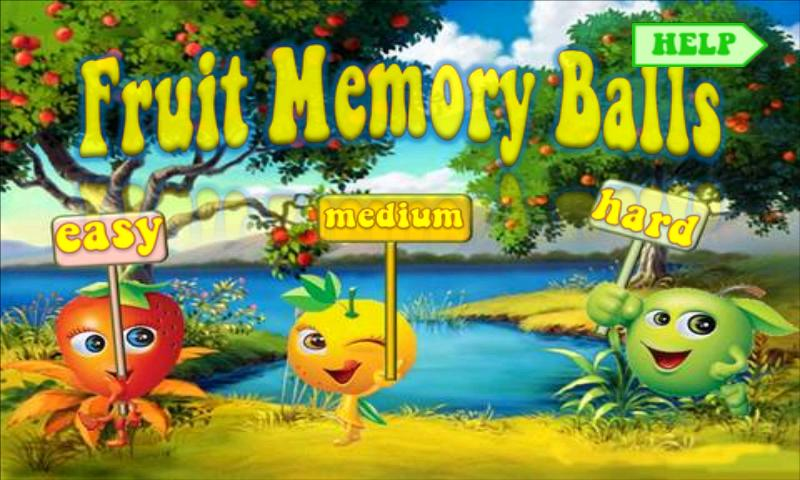 Free Fruit Memory Balls - screenshot
