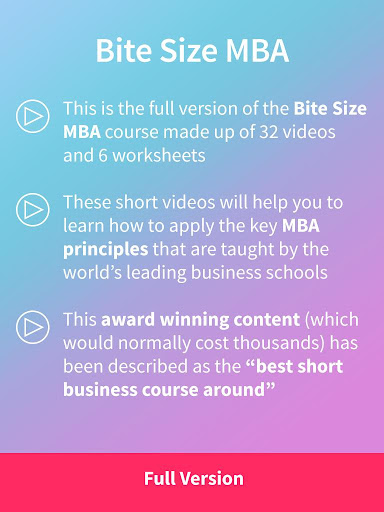 BiteSize MBA : Full Version