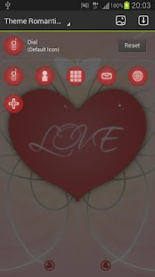 GO Launcher Theme Romantic - screenshot thumbnail