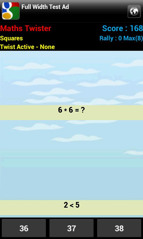Maths Twister- screenshot