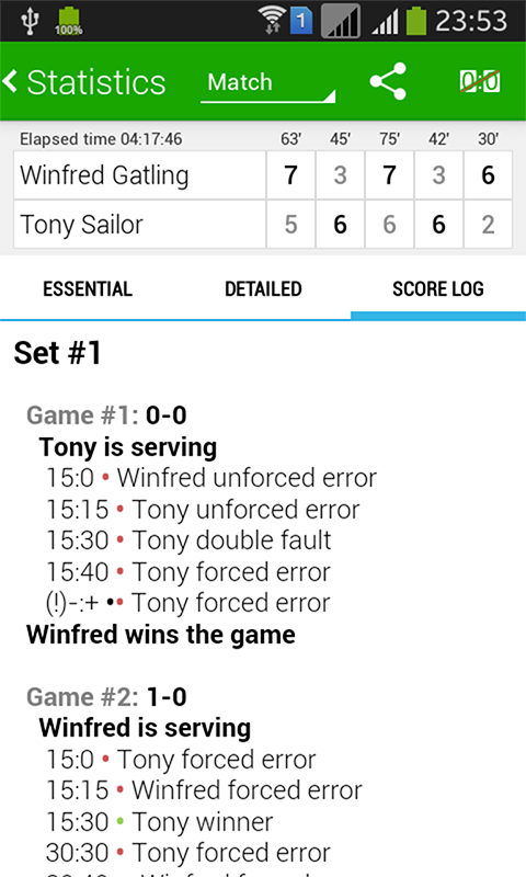 Tennis Math - screenshot