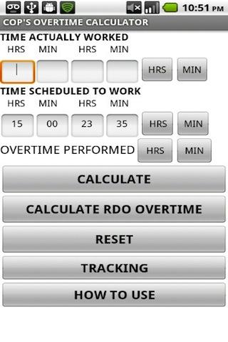 Cop'S Overtime Calculator - Android Apps On Google Play