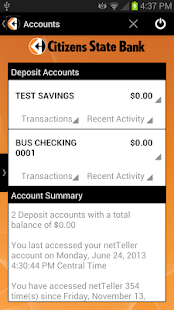 Citizens State Bank Mobile - screenshot thumbnail