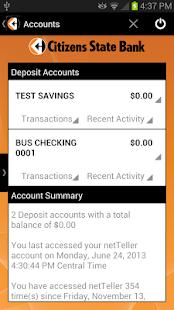 Citizens State Bank Mobile- screenshot thumbnail