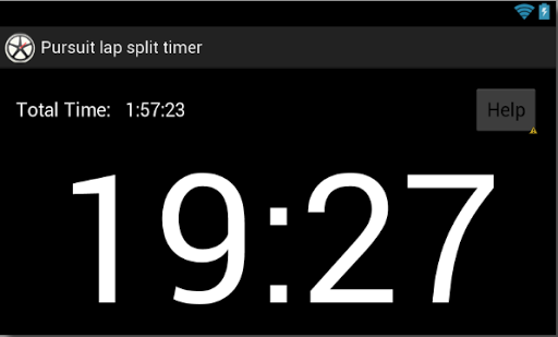 Pursuit Lap Split Timer