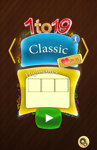 1to19 Number Puzzle Game