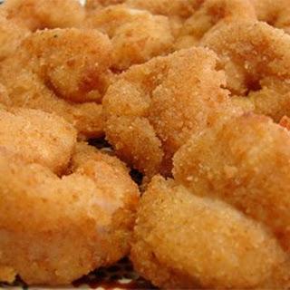 Fried Butterflied Shrimp.