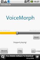 Screenshot of VoiceMorph