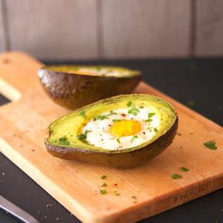 Eggs Baked In Avocado Boats.